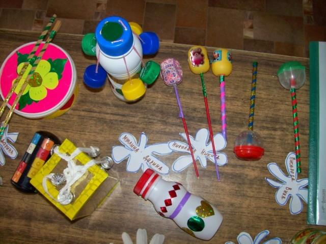 Музыкальные инструменты в детский сад своими руками